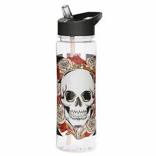 Wasserflasche Skull /& Roses Rostfreier Stahl schwarz