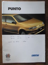 FIAT PUNTO Range orig 1995 UK Mkt Prestige Sales Brochure - with GT & Cabrio ELX