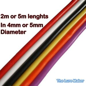 Flying C Body Tubing Silicone, 4 & 5 mm Flying C,s 6 Cols  2.5Mts & 5Mts.Lts