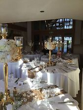 HIRE only 60 x 80cm gold candelabra wedding event flowers free delivery/set up