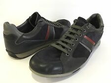 Geox Leather Men's Respira Suede Navy Lace Up Sneakers Size 46