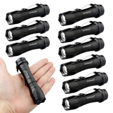 10PCS 12000LM Zoomable T6 Tactical Military LED 14500/AA Flashlight Torch Lamp