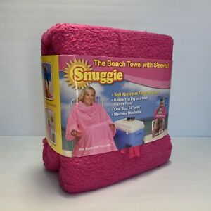 Snuggie The Beach Towel With Sleeves Fleece Blanket Summer Pink 54x60 Soft NEW