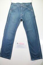 Lee Union alls carpenter (Cod. F1880)Tg46 W32 L34  jeans usato booutcut