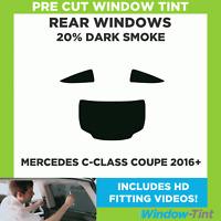 Pre Cut Window Tint - Mercedes C-Class Coupe 2016+ - 20% Dark Rear