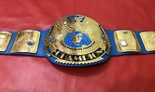 WWF BIG EAGLE BLOCK LOGO CHAMPIONSHIP BELT IN THICK BRASS PLATES!