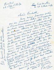 BRASSAÏ / Lettre autographe signée / 1970