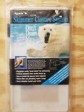 Aquador 1010 Skimmer Closure System Pool Closing Faceplate & 2 Cover Lids !