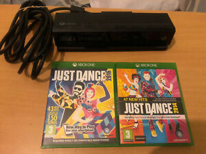 Microsoft Xbox One Kinect Sensor / Camera + 2 Just Dance Games
