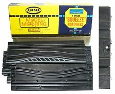 "6 pc Aurora Model Motoring HO Slot Car Lock & Joiner 9"" SQUEEZE TRACK Boxed"