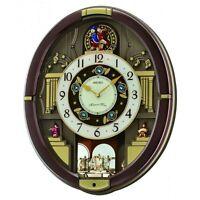 "Seiko Clock ""Melodies In Motion: Danube"" Metallic Brown Musical Clock QXM488BRH"