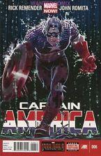 CAPTAIN AMERICA #6 MARVEL NOW RICK REMENDER JOHN ROMITA AVENGERS COMIC BOOK 1