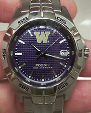 Washington Huskies Fossil Mens Applied Watch LI2970 NEW