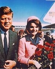 JFK John Kennedy with Jackie and Air Force 1 10x8 Photo