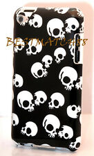 FOR IPOD TOUCH 4TH 4 TH ITOUCH 4G CASE BLACK WHITE COOL SKULL SKELETON  BACK
