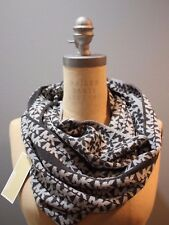 NWT MICHAEL KORS One Size Women's Charcoal and Gray MK INFINITY Cowl Scarf
