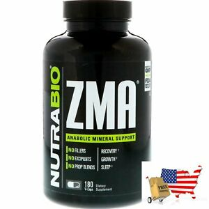 Anabolic Mineral Recovery Growth Support Zma 180 Vegetable Capsules NutraBio Lab