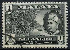 Malaysian States Selangor 1957-61 SG#116, 1c Black Used #D46461