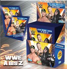 Topps la WWE de la a a la Z todos 182 sticker + álbum en blanco