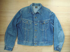 Vtg 50s 60s LEE 101-J Blue Denim Chore Work Jacket Riders Western Cowboy Barn 46