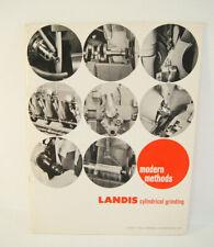 Landis Cylindrical Grinding Modern Methods Machine Shop Brochure Advertisement