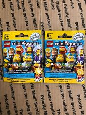 Lot of 2 Lego Minifigures 71009 The Simpson Series 2 Foil Pack NEW SEALED