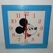 Horloge Rocking Mickey Mouse WALT DISNEY Vintage
