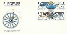 (96683) CLEARANCE GB Guernsey FDC Transport & Communication May 1988