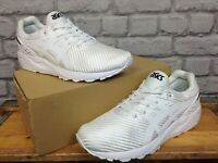 ASICS MENS KAYANO EVO WOVEN WHITE TRAINERS RUNNING VARIOUS SIZES