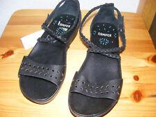 CAMPER Gr. 37, schwarze Sandalen; Sandaletten, Riemchen, perfekt NEU schwarz
