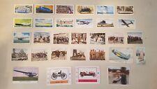 Non Sport Lot 31 Cigarette Cards Planes Trains Automobiles Boats Wwi Brook Bond
