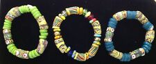 3 großartige farbenfrohe handgefertigte Armbänder Bracelet Afrika Karneval