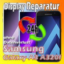 24 St Display Reparatur Samsung Galaxy A3 SM-A320F 2017 Glas Austausch Schwarz