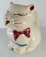 Shawnee Pottery Puss N Boots Cat Creamer Pitcher Vintage Ceramic Porcelain