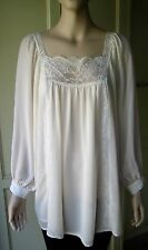 TOPSHOP Maternity Long Sleeve Top Blouse Smock French Lace & Chiffon S10