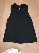 Topshop UK 10, Black Lace Top, Collar, Sleeveless