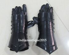 Black Antique Medieval Steel Armour Gothic Gauntlet  Gloves
