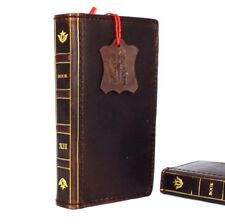 genuine vintage leather Case for Samsung Galaxy S6 book wallet bible cover slim