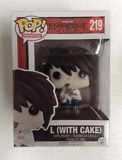 Death Note - L (With Cake) Pop! Vinyl Figure #219 NEW Funko rare