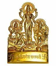 Lakshmi Laxmi Ganesha Saraswati Brass Idol statue