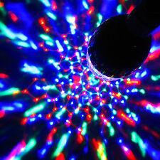 LAMPADINA LED a baionetta BC PAC rotazione filatura cristallo discoteca palla colore PARTY Lampada