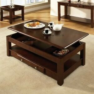Bowery Hill Lift Top Coffee Table in Cherry FREE SHIPPING!