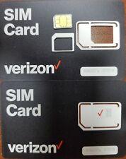 VERIZON STANDARD/MICRO/NANO SIMCard CDMA 4GLTE • 3IN1