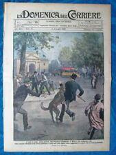 La Domenica del Corriere 4 luglio 1920 Piazzale Sempione,Milano-Francia-Ugolini