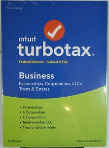 New Intuit TurboTax 2018 Business Partnerships Corporations LLC Trusts & Estates
