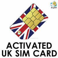 UK SIM Card, Preactivated Receive FREE SMS Worldwide no set up Needed Anonymous