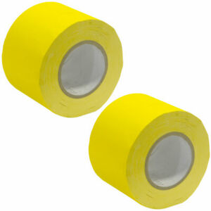 2 Pack of Gaffer's Tape - Yellow 4 inch Rolls 60 Yards per Roll Gaffers Tape
