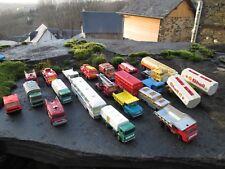 svv MAJORETTE,EFSI,LESNEY MATCHBOX lot camions(pompiers benne ext) bus