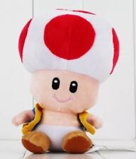 "Super Mario Bros Red Toad Plush Stuffed Animal Toy 7"" US Seller"