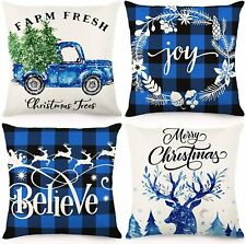 CDWERD Christmas Pillow Covers 18x18Inches Decorations Black and...